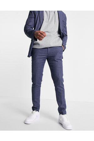 ASOS Pantalones de traje pitillo de línea sartorial casual de mezcla de lino de