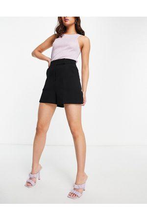 closet london Shorts de oficina negros de sastre de talle alto de (parte de un conjunto)