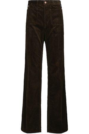 Polo Ralph Lauren Pantalones flared de pana de tiro alto