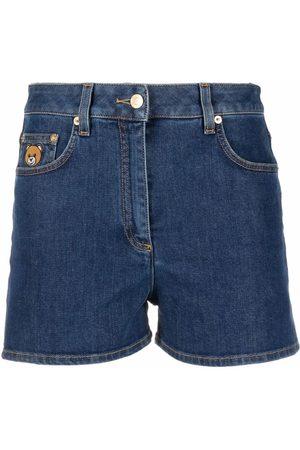 Moschino Mujer Vaqueros - Pantalones cortos vaqueros con parche del logo
