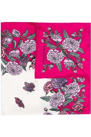 VALENTINO Mujer Bufandas y Pañuelos - Floral-print scarf