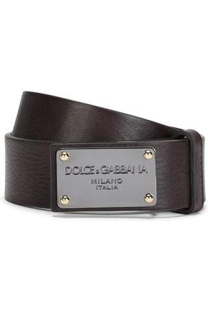 Dolce & Gabbana Cinturón con placa del logo
