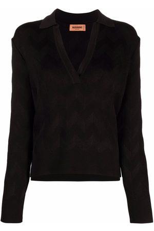 Missoni Mujer Polos - Zig-zag knit polo top