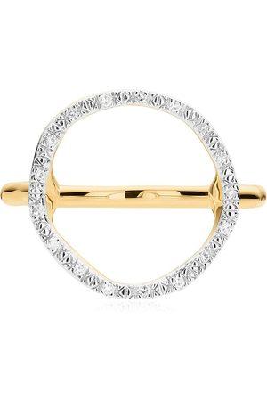 Monica Vinader Mujer Anillos - Anillo Riva circular con diamantes