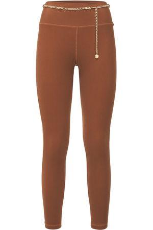 WeWoreWhat   Mujer Leggings Con Cintura Alta Y Cadena Xs