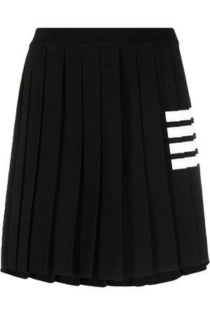 Thom Browne Mujer Plisadas - Falda de punto con motivo 4-Bar