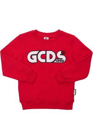 GCDS | Niña Sudadera De Algodón Con Logo Bordado 8a