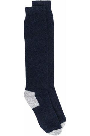 FEDELI Hombre Calcetines - Calcetines con panel en contraste