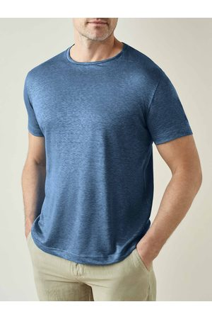 Luca Faloni Camiseta de lino acero