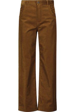 Loro Piana Mujer Pantalones anchos y harén - Pantalones de pana de algodón elástico