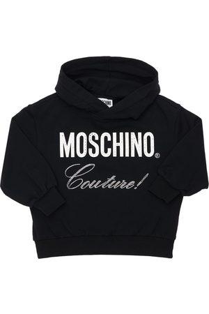 Moschino | Niña Logo Print Cotton Sweatshirt 8a