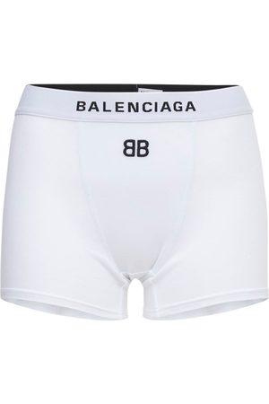 Balenciaga Mujer Pantalones cortos -   Mujer Shorts Deportivos De Algodón Jersey Stretch Xs
