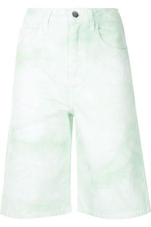 Ireneisgood Mujer Vaqueros - Pantalones vaqueros cortos de talle alto