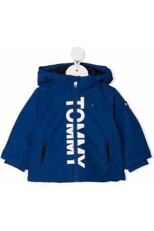 Tommy Hilfiger Bomber - Chaqueta bomber con capucha y logo estampado