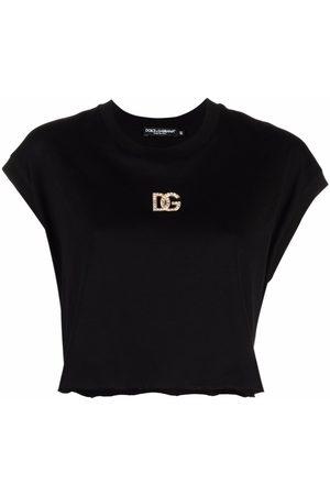 Dolce & Gabbana Logo-plaque cropped T-shirt