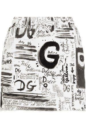 Dolce & Gabbana Minifalda con logo estampado