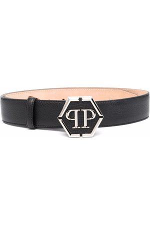 Philipp Plein Mujer Cinturones - Cinturón con placa del logo