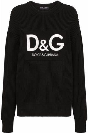 Dolce & Gabbana Mujer Jerséis y suéteres - Jersey de canalé con logo