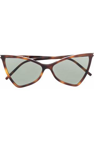 Saint Laurent Mujer Gafas de sol - Gafas de sol con montura cat-eye y efecto carey