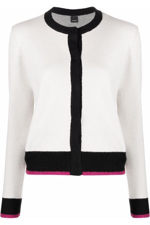 Pinko Mujer Chaqueta de punto - Contrast-trimmed knitted cardigan