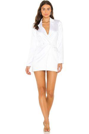 superdown Vestido miley en color blanco talla L en - White. Talla L (también en M, S, XL, XS, XXS).