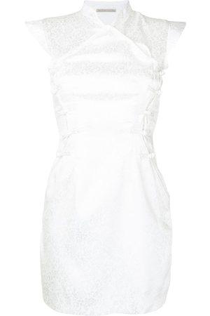 Lisa von Tang Vestido corto Qi Pao con diseño brocado