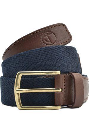 Seajure Cinturón Cinturón de lona azul marino para hombre