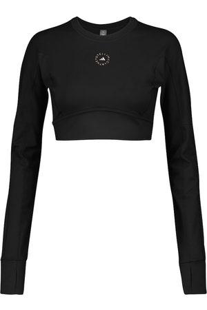 adidas Mujer Crop tops - Camiseta de rendimiento con logo