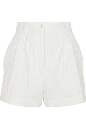 Alaïa Shorts en jacquard de algodón elástico