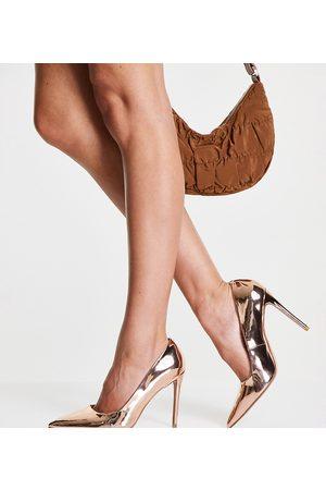 ASOS DESIGN Zapatos de salón color con tacón alto de punta fina Penza de Wide Fit