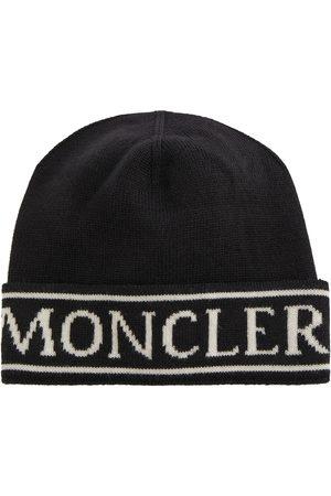 Moncler Gorro de lana con logo