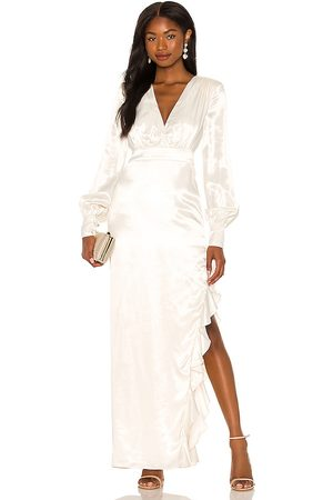 MAJORELLE Vestido largo pearl en color crema talla L en - Cream. Talla L (también en M, S, XL, XS, XXS).
