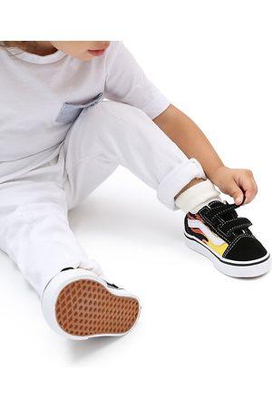 Vans Zapatillas De Bebé Flame Old Skool Con Velcro