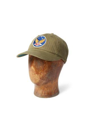RRL Gorra de béisbol de sarga teñida