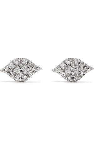 Djula Pendientes Eye en oro blanco de 18kt con diamantes