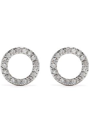 DJULA Pendientes Circle en oro de 18kt con diamantes