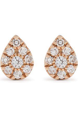 DJULA Pendientes Pear en oro de 18kt con diamantes