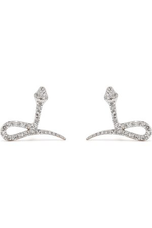 DJULA Hombre Pendientes - Pendientes Snake en oro de 18kt con diamantes