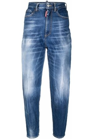 Dsquared2 High-rise distressed-effect skinny jeans