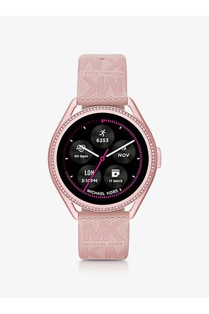 Michael Kors Reloj inteligente MKGO Gen 5E de goma en tono con logotipo - Michael Kors