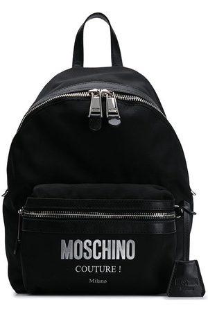 Moschino Mujer Mochilas - Mochila con aplique del logo