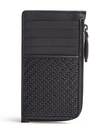 Ermenegildo Zegna Leather zipper cardholder