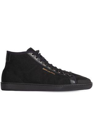 Saint Laurent | Hombre Sneakers De Lona De Algodón 43.5