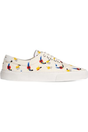 Saint Laurent | Hombre Sneakers De Lona De Algodón Estampado 43.5