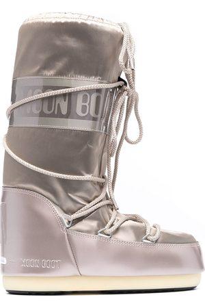Moon Boot Mujer Botas de nieve - Botas de nieve acolchadas con cordones