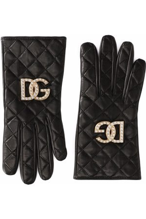 Dolce & Gabbana Quilted leather gloves