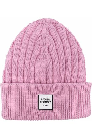 Opening Ceremony Logo-patch ribbed-knit wool beanie