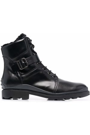 Tod's Buckled leather ankle boots