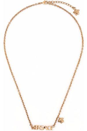 VERSACE Logo-plaque necklace