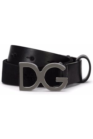 Dolce & Gabbana Niño Cinturones - Cinturón con hebilla del logo